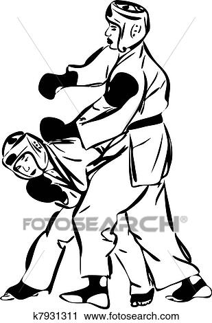 Karate Kyokushinkai Martial Arts Sports Clipart