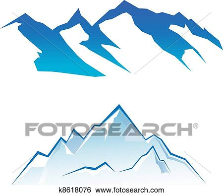 Montagne Ensemble Clipart K8618076 Fotosearch