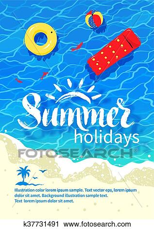 clipart of summertime vacation flyer design k37731491 search clip