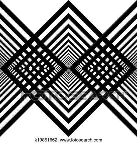 Clipart Abstrakt Absteigen Schwarz Diamanten Zaun Struktur