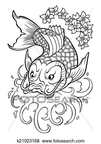 Clip art carpa koi k21023168 cerca clipart poster for Prezzo carpa koi
