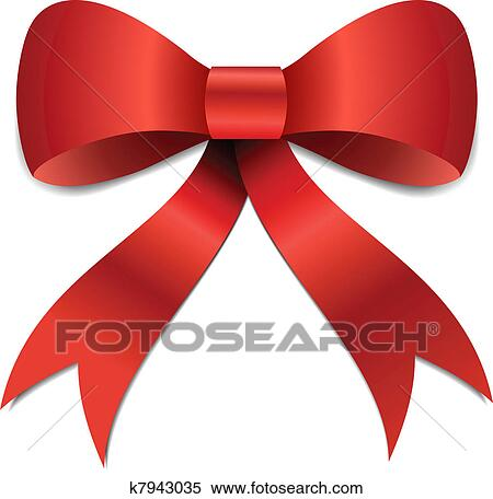 big red christmas bow illustration with gradients and opacity eps version 8