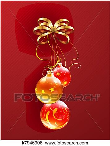 vector illustration of cool christmas decorations