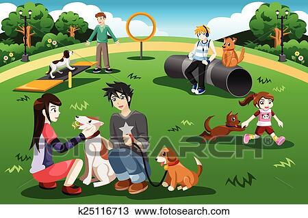 clipart of people in a dog park k25116713 search clip art rh fotosearch com clip art parkrun images clip art parking