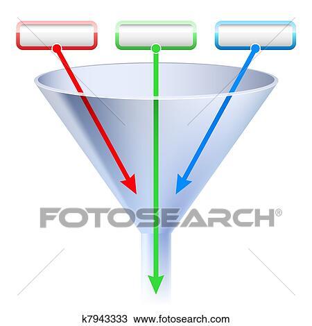 Un Immagine Di Uno Tre Palcoscenico Imbuto Chart Disegno