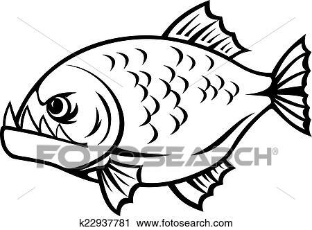 clipart of angry piranha k22937781 search clip art illustration rh fotosearch com piranha clip art commercial free clipart piranha fish
