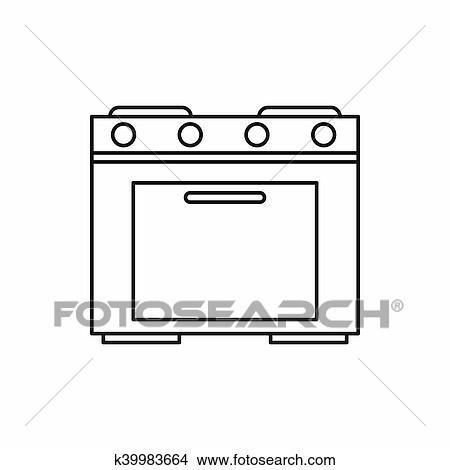 Dibujo Cocina   Dibujos Cocina Estufa Icono Contorno Estilo K39983664 Buscar