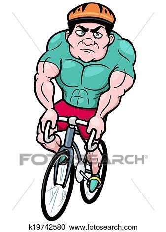 Clipart cycliste k19742580 recherchez des clip arts - Dessin cycliste ...