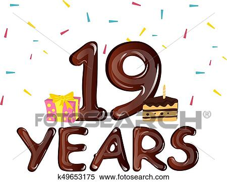Image result for clipart nineteen