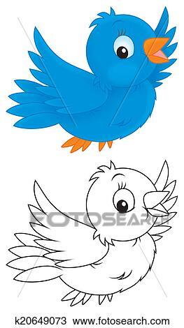 pássaro azul desenho