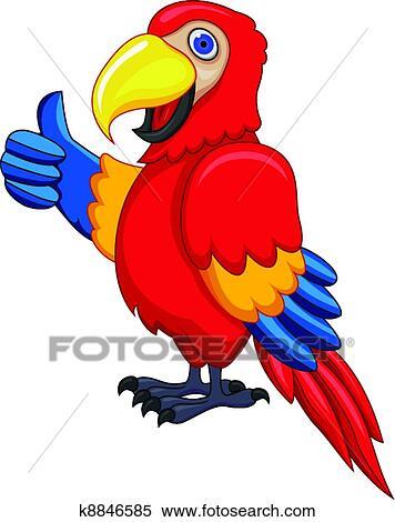 Perroquet dessin anim clipart k8846585 fotosearch - Perroquet en dessin ...