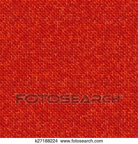 Red seamless fabric texture Stock Illustration