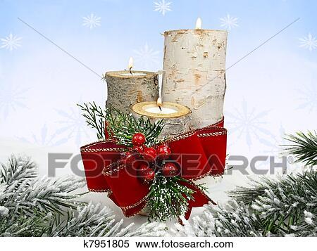 Weihnachtsdeko Aus Birke.Weihnachtsdeko Stock Bild