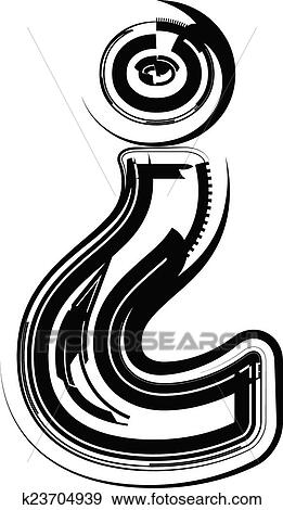 Clip Art Of Abstract Question Mark K23704939