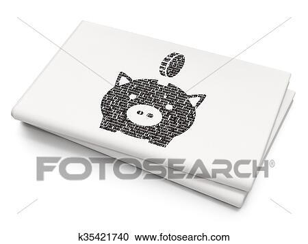Stock Illustrations Of Banking Concept Money Box With Coin On Blank
