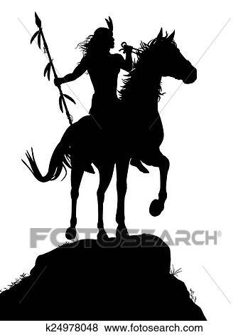 Clipart cheval indien k24978048 recherchez des cliparts des illustrations des dessins et - Clipart cheval ...