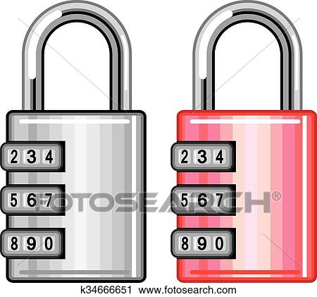 clipart of combination lock vector k34666651 search clip art rh fotosearch com Master Combination Lock Clip Art Cat Combination Lock