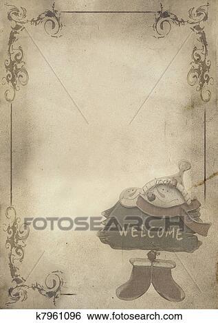 Christbaumkugeln Kariert.Dass Christbaumkugeln Früher Menükarte Hintergrund Stock Illustration