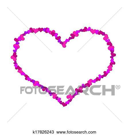 Dibujo Grande Corazón Hecho Up De Poco Corazones K17826243