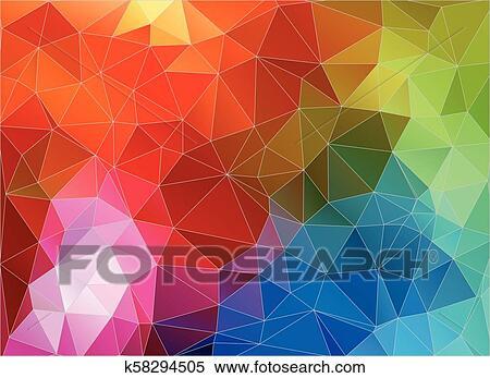 Multicolor Color Geometric Triangle Wallpaper Clipart