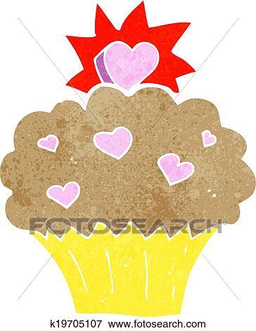 Clipart dessin anim aimez coeur petit g teau - Dessin de petit coeur ...