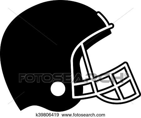 clip art of football helmet vector icon k39806419 search clipart