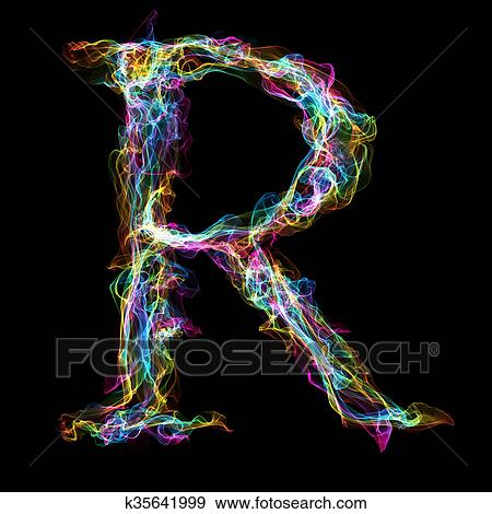Stock illustration of rainbow smoke letter r k35641999 search rainbow smoke letter r for make wonderful text thecheapjerseys Image collections