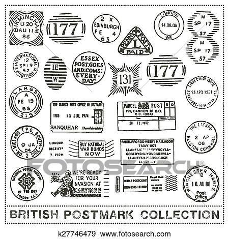 Clip art regno unito timbro postale collezione for Unito lettere