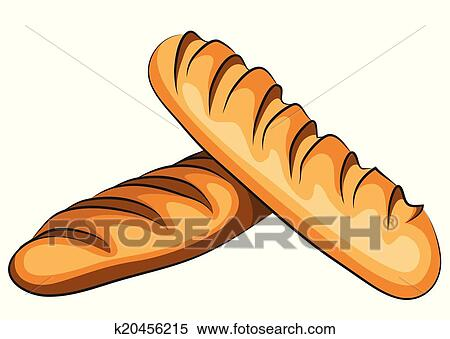 الخبز الفرنسي Clipart K20456215 Fotosearch