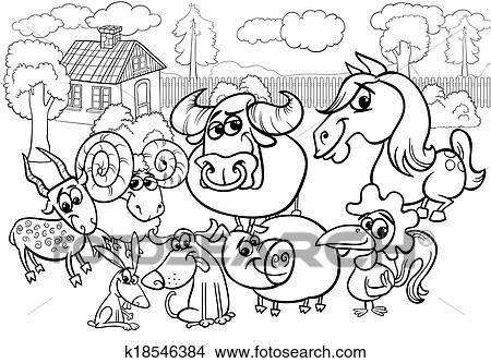 Schön Tiere Auf Der Farm Färbung Seite Galerie - Ideen färben ...