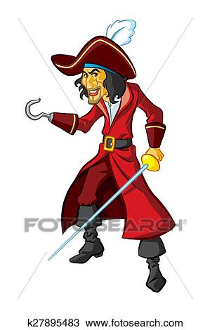 desenho capitão gancho k27895483 busca de imagens clip art