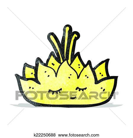Cartoon Lotus Flower Character Clip Art K22250688 Fotosearch