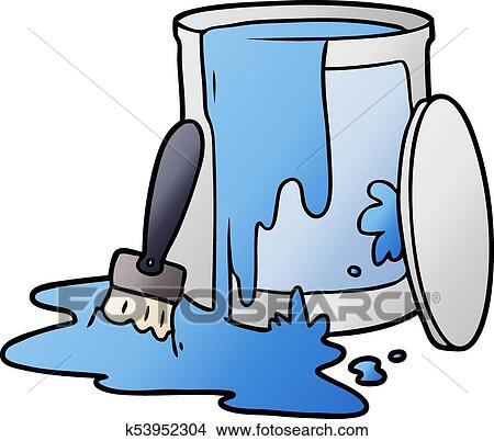 Clipart Of Cartoon Paint Bucket K53952304 Search Clip Art