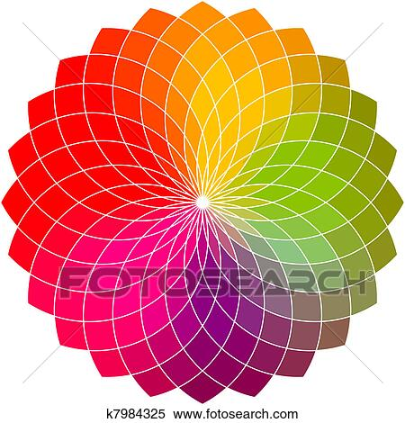 Stock Illustration Of Color Flower Wheel K7984325 Search Clipart