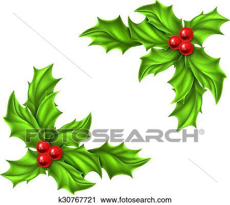 Clipart Natale Agrifoglio Disegno K30767721 Cerca Clipart