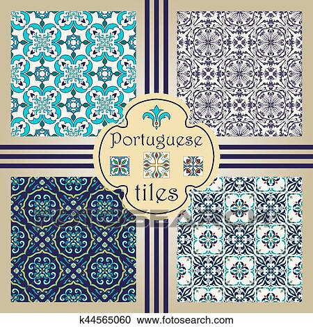 Vector Seamless Texture Collection Set Of Beautiful Colored Patterns For Design And Fashion With Decorative Elements Clipart K44565060 Fotosearch