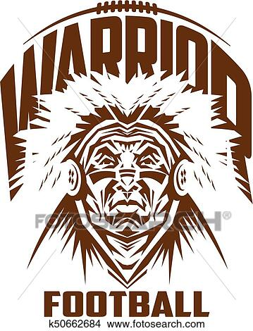 Warrior football Clipart | k50662684 | Fotosearch