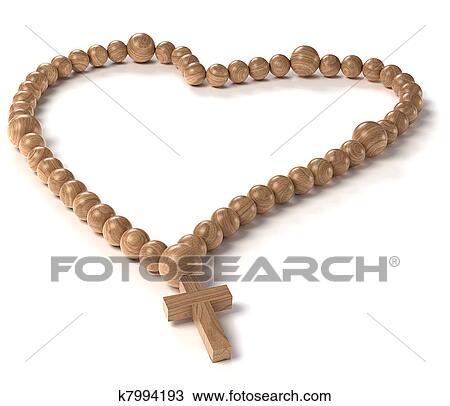 Dessin De Chapelet dessin - amour, et, religion:, chapelet, ou, perles rosaire k7994193
