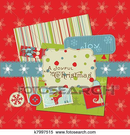 Christmas Design Elements For Scrapbook Design