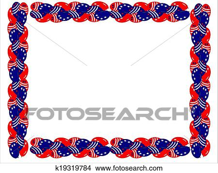 clipart of fourth july balloons boarder k19319784 search clip art