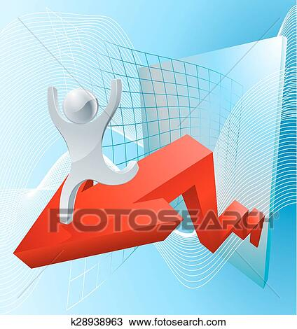 Growth arrow graph concept Clipart | k28938963 | Fotosearch