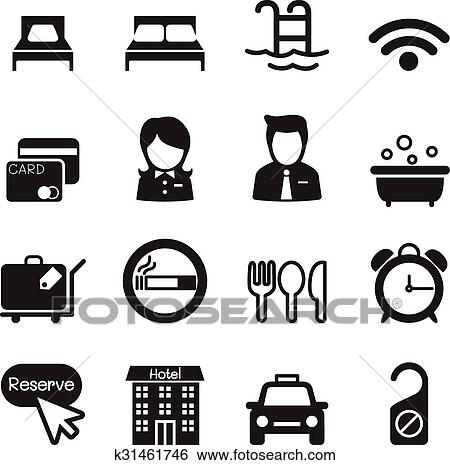 Clip Art Of Hotel Icons K31461746