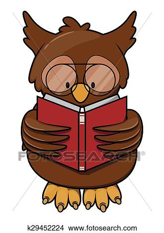 Owl Read Book Clipart