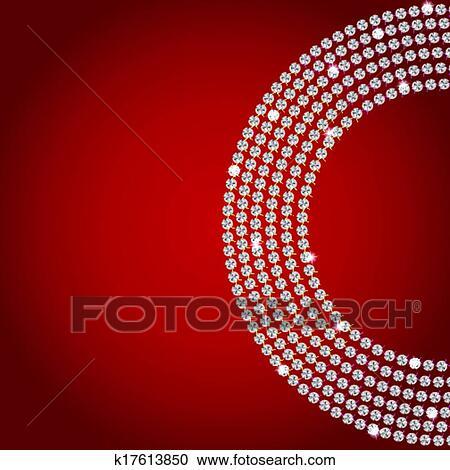 Abstract beautiful diamond background vector illustration Clipart