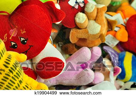 Stock Photograph Of Colorful Stuffed Animal Toys K19904499 Search