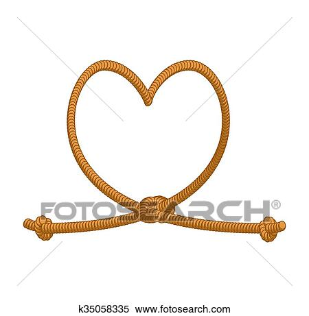 Clipart Of Heart Tie Rope Thick Rope Of Love Rope Love Symbol Of