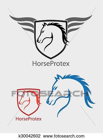 fb6440ba697 Horse Head Logo Clipart | k30042602 | Fotosearch