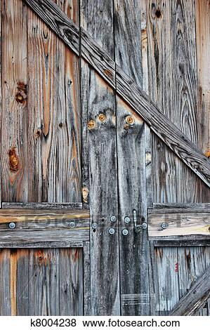 An Old Barn Door, Weathered With Age