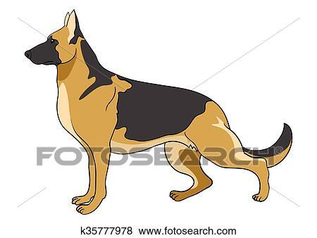 Pastore tedesco cane clip art k fotosearch
