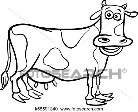 - Cow Farm Animal Character Cartoon Color Book Clipart K55591340  Fotosearch